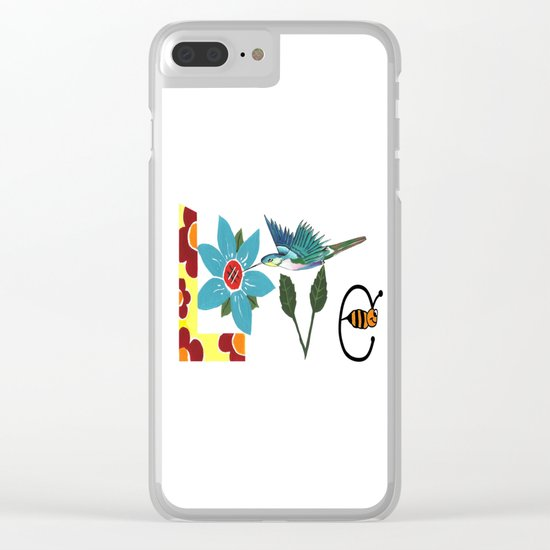 L Is For Love Clear iPhone Case