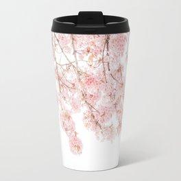 Pink Blooming Cherry Trees Travel Mug