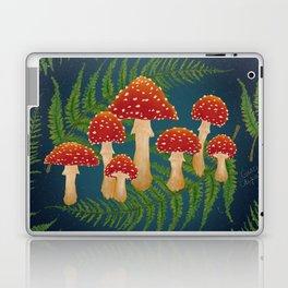 Magic Mushroom Fern Forest Navy  Laptop & iPad Skin