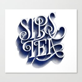 Sips Tea Canvas Print