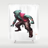 cthulhu Shower Curtains featuring CTHULHU by Yoncho Yonchev