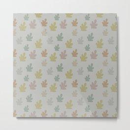 Falling leaves with silver rain Metal Print