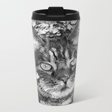AnimalArtBW_Cat_20170903_by_JAMColorsSpecial Metal Travel Mug