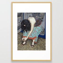 Shoelace Framed Art Print