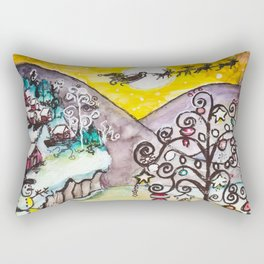 Ice Lake Christmas Rectangular Pillow