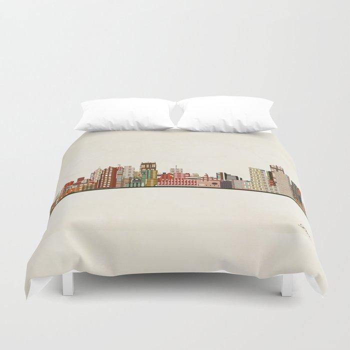 detroit skyline Bettbezug