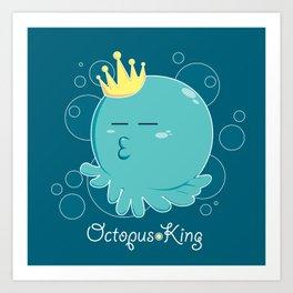 Octopus King Art Print