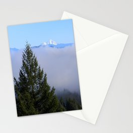 Beyond the fog is Mount Lassen.... Stationery Cards