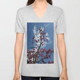 Cherries in the Sky Unisex V-Neck