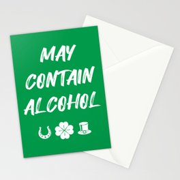 St. Patrick's Day - May Contain Alcohol II Stationery Cards
