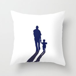 Walking together - hand in hand Throw Pillow