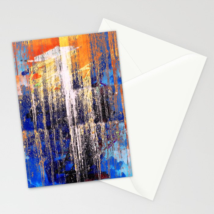 Golden Dawn, Abstract Landscape Art Stationery Cards