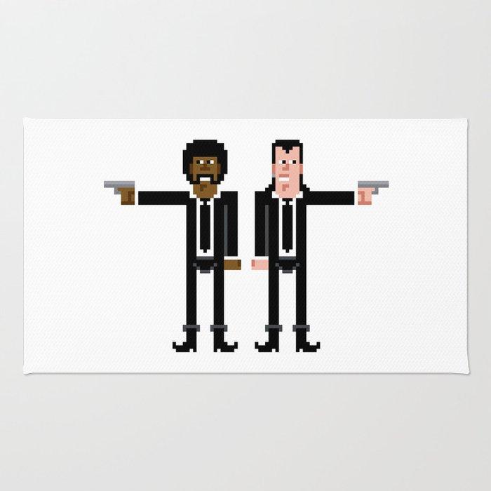 Pixel Pulp Fiction Characters Rug