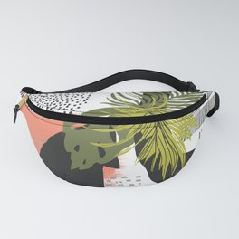 Nature abstract with linear strokes Fanny Pack