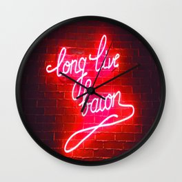 LONG LIVE BACON Wall Clock