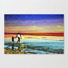 Surfing  Croyde Canvas Print