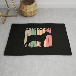 Cane Corso Dog Silhouette Rug