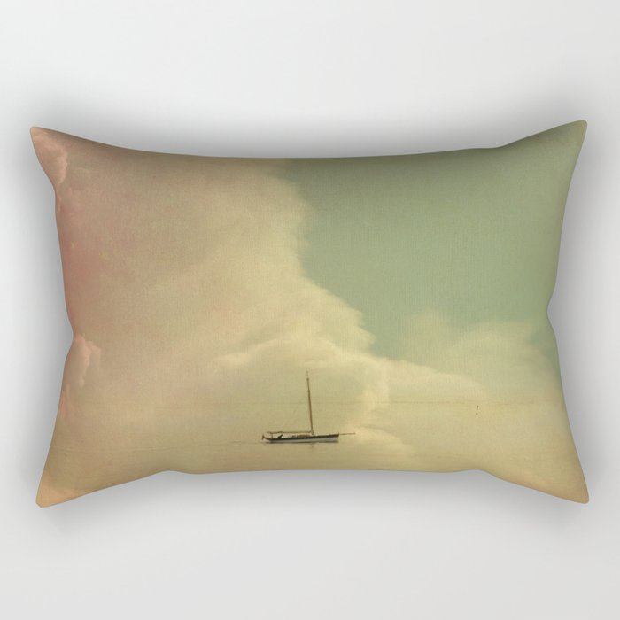 Once Upon a Time a Little Boat Rectangular Pillow