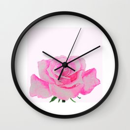 one pink rose Wall Clock