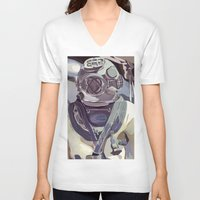 diver V-neck T-shirts featuring Diver by Five Ate Five Studios