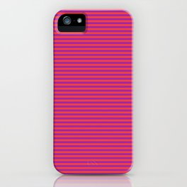 Even Horizontal Stripes, Red and Purple, XS iPhone Case
