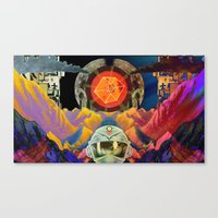 physics Canvas Prints featuring Quantum Physics  by Cory Ring