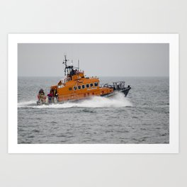 Lifeboat in action Art Print