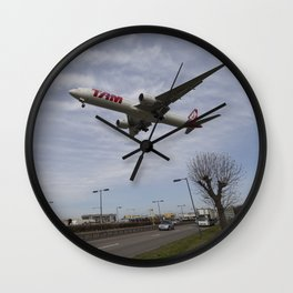 Tam Boeing 777 Heathrow Airport Wall Clock