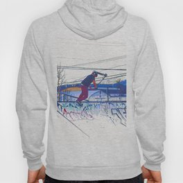 Spinning the Deck - Trick Scooter Sports Art Hoody