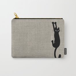 Black Cat Hanging On Carry-All Pouch