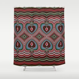 Wavy texture diamond pattern Shower Curtain