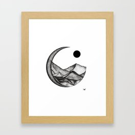 crescent hills Framed Art Print