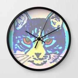 Pop Art Cat No. 2 Wall Clock