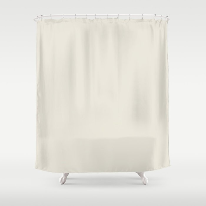 Tofu beige white Pantone fashion color trend autumn fall Shower Curtain