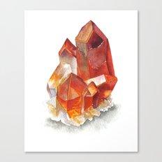 Orange Quartz Cluster Canvas Print