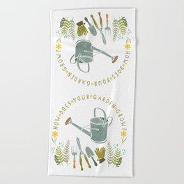 How Does Your Garden Grow? Beach Towel