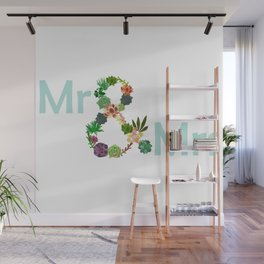 Mr and Mrs Wall Mural