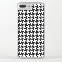 Black and white houndstooth pattern Clear iPhone Case
