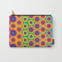 Rainbow Hexagon Carry-All Pouch