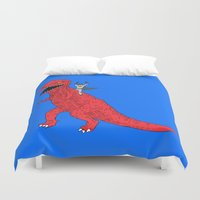dinosaur Duvet Covers featuring Dinosaur B Forever by Isaboa