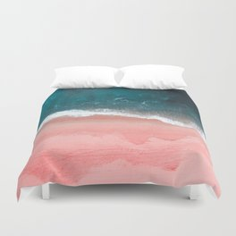 Turquoise Sea Pastel Beach III Duvet Cover