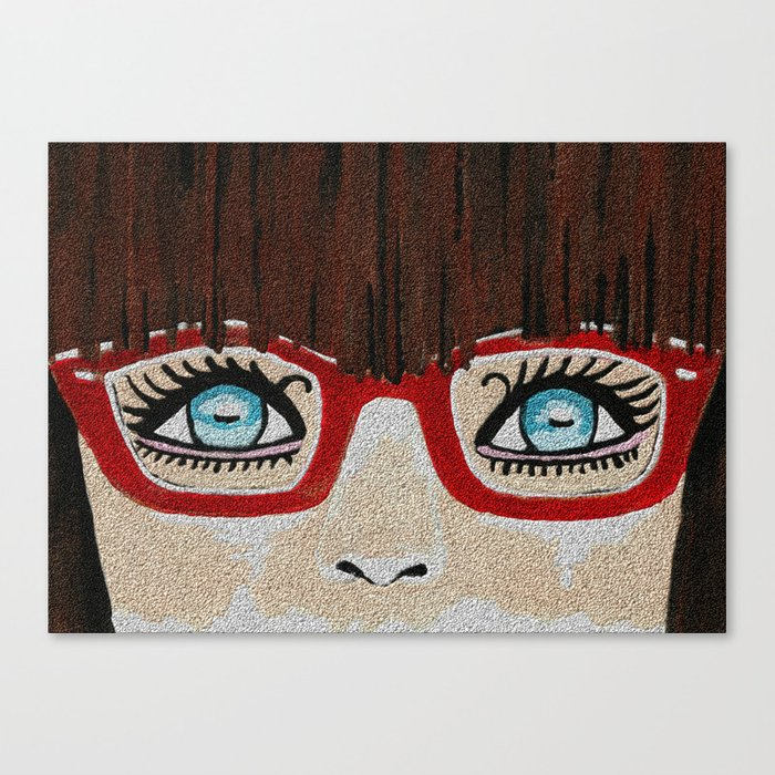 The Girl With The Red Glasses Canvas Print