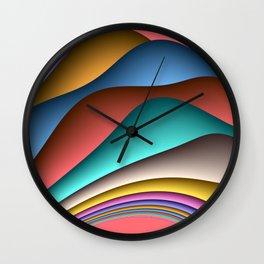 fluid -70lachs- Wall Clock