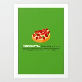 Bruschetta su Verde Art Print