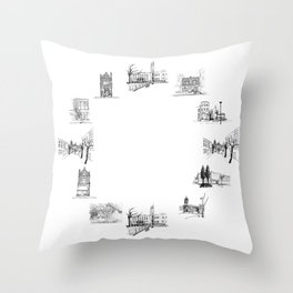 crouch end o'clock Throw Pillow