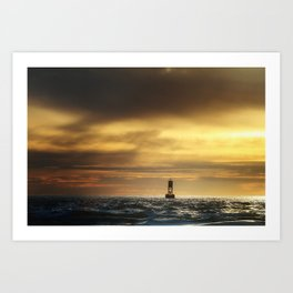 Lonely Buoy Art Print