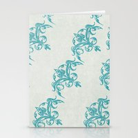 teal Stationery Cards featuring Teal by Juste Pixx Designs
