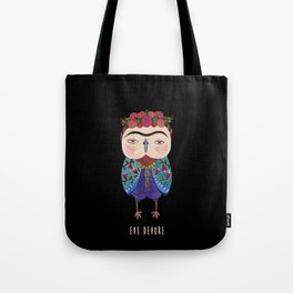 Frida Owl 2 Tote Bag