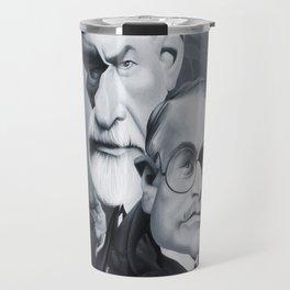 Sigmund Freud and Carl Jung Travel Mug