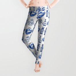 Blue Vases Leggings